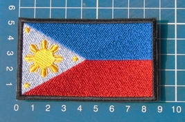 Philippine Flag Patch Sew on Embroidery - $6.99