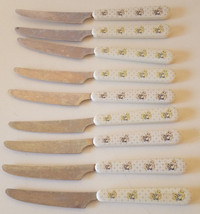 Set of 9 Tienshan Theodore Country Bear Dinner Knives Stainless Flatware - $24.24