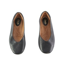 Clarks Artisan Black Leather Ballet Flats Comfort Shoes Slip On Womens 5... - $28.55