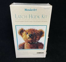 Caron WonderArt Old Tyme Teddy Bear Latch Hook Kit Pillow Rug No 4707 NEW Sealed - $14.84