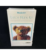 Caron WonderArt Old Tyme Teddy Bear Latch Hook Kit Pillow Rug No 4707 NE... - £10.79 GBP