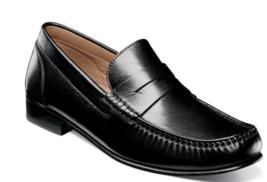 Florsheim Men's Shoes Beaufort Moc Toe Penny Loafer Black 11869-001 - €109,08 EUR