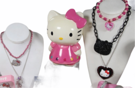 Large Sanrio Hello Kitty Assorted Jewelry Accessories Lot Watch Necklace Bank image 2