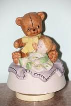 Vintage Revolving Teddy Bear and Baby Music Box- Lego Japan - $15.84
