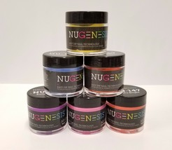 NUGENESIS Nail Color Dipping Powder GLITTERS 1oz/jar (NL01 - 30) - Choos... - $12.35