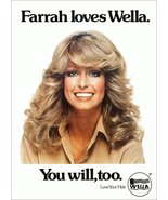 """Farrah Fawcett """"Wella"""" Products Stand-Up Display - Celebrity Charlie's A... - $16.99"""