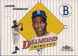 2001 Fleer Tradition Tributes #1 Jackie Robinson Brooklyn Dodgers   - $2.00
