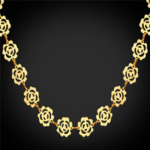 Necklaces, Maxi lace 18K Yellow Gold/Rose Gold/Platinum Plated Cute lace N1622 - $27.99