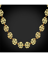Necklaces, Maxi lace 18K Yellow Gold/Rose Gold/Platinum Plated Cute lace... - $27.99