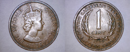 1960 East Caribbean States 1 Cent World Coin - $2.99