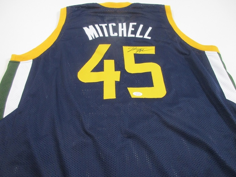 low priced ef435 df9c2 Donovan Mitchell Utah Jazz hand signed custom NBA basketball jersey COA