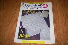 Crochet Symbols Of Our Faith Patterns 8 Designs Filet - $8.59
