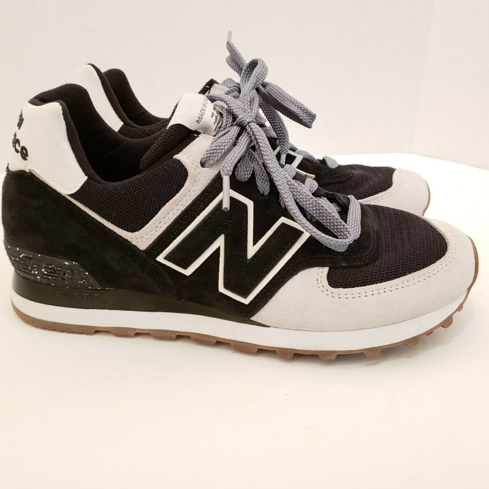 New Balance Men's Size 7 Black and White Running Sneakers USA Made Classic Shoe