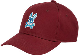 Psycho Bunny Men's Strapback Hat Embroidered Logo Cotton Sports Baseball Cap image 2