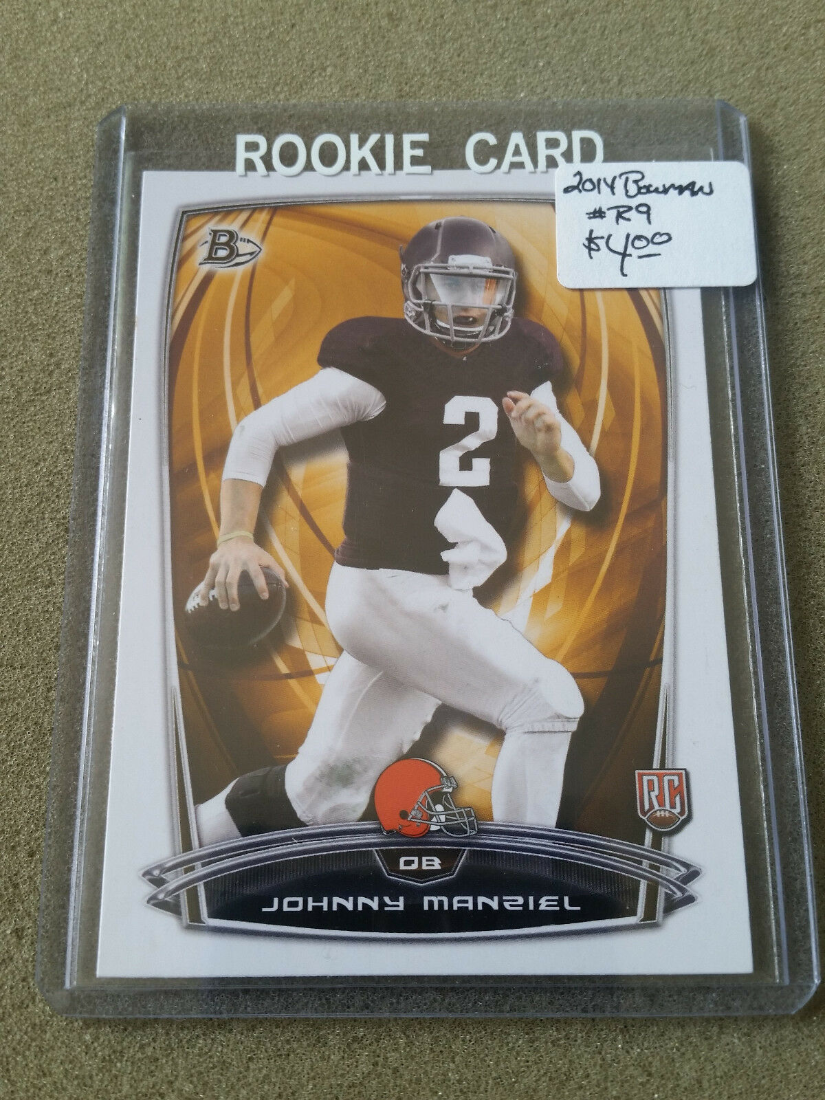 Primary image for 2014 Bowman #R9 Johnny Manziel RC: Cleveland Browns