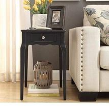 ModHaus Living Modern Country Style Wood Accent Nightstand End Sofa Side... - $68.79