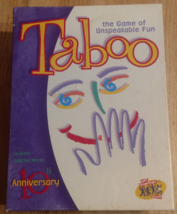TABOO GAME 2000 10th ANNIVERSARY HASBRO HERSCH COMPLETE EXCELLENT  - $20.00