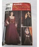 Simplicity 9929 Renaissance Tudor Spanish Queen Costume Sz 14 16 18 20 U... - $19.99