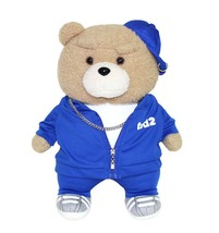 Ezen Creation Hippop Stuffed Animal Teddy Bear Plush Toy 35cm 13.7 inches (Blue) image 1