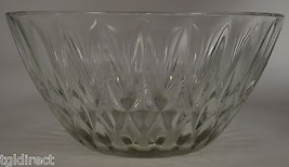 """Vitnage Clear Glass Diamond Pattern Fruit Bowl 9"""" Round Collectible Decor - $18.99"""
