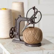 Farmhouse Vintage Cast Iron Sheers Scissors Jute Twine String Kitchen Cr... - $42.52