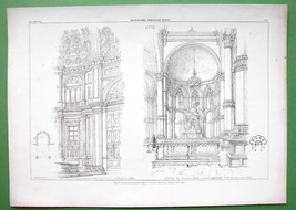 ARCHITECTURE PRINT : Italy Apse of Duomo at Como & S. Zaccaria at Venice - $13.49