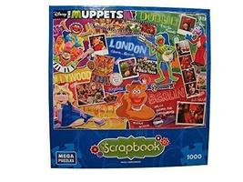 Disney Scrapbook 1000 Piece Jigsaw Puzzle: Muppets Most Wanted by Mega P... - $30.04