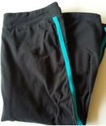 sweatpants girls black and blue size large 29x19 - $4.95