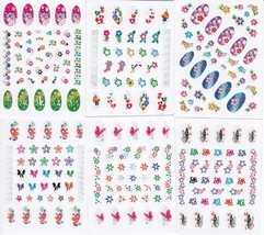 360 BRIGHT COLORFUL Nail Art Decals Rub on Transfer Fingernail Stickers ... - $4.85