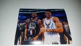Kevin Durant and Giannis The Greek Freak Milwaukee Bucks 8 x 10 photo si... - $299.00