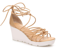 Charles By Charles David Vegas Nude-SM Smooth Wedge Sandal, Size 6.5 M - $49.49