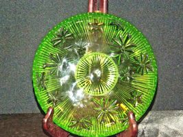 Green Candy Floral Dish Depression Glass AA19-CD0026 Vintage image 5