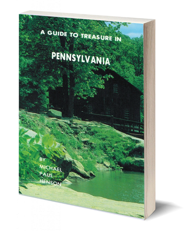 3d book cover a guide to treasure in pennsylvania