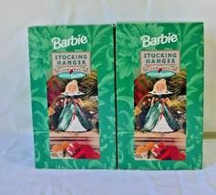 Holiday Barbie Set of 2 Stocking Holders Hallmark Christmas 1996 Mattel NIB - $39.99