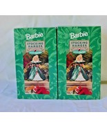 Holiday Barbie Set of 2 Stocking Holders Hallmark Christmas 1996 Mattel NIB - $39.99