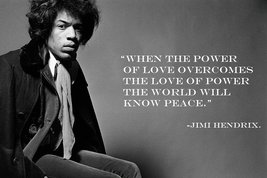 JIMI HENDRIX POSTER 24x36 UK Import Quote Power of Love Psychedelic Rare OP - $24.99