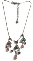 Vintage GIVENCHY Necklace with Garnet Drops - $38.00