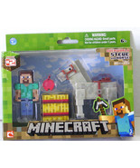 Minecraft Overworld Steve and Gray Horse Figures  - $18.99