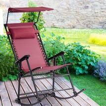 Zero Gravity Folding Rocker Porch Rocking Chair - $140.00