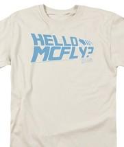 Back to the Future Retro 80s Sci-Fi Classic Hello McFly T-shirt Doc Brown UNI366 image 3