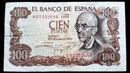 1980 SPAIN 100 PESETAS BANK NOTE  - $3.84