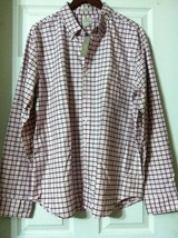 J.Crew Hombre Rosas 100% Algodón Tejido Oxford Camisa Informal Ajustado - $47.84
