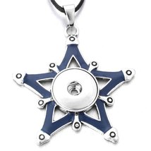 New Styles Metal Star 18mm Snap Button Necklaces & Pendants Snap Jewelry DIY Jew image 2