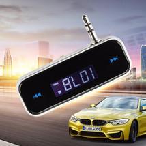 FM Wireless Transmitter 3.5mm In-car Music Audio  Car MP3 - £21.98 GBP