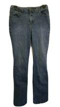 St. John Bay Ladies Size 6 Boot Cut Blue Jeans,  Average, Secretly Slend... - $17.41