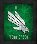 """University of North Texas Mean Green""""Retro College Logo Map"""" 13x16 Frame... - $39.95"""