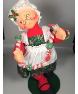 Annalee Mrs Claus felt doll with candy garland Christmas decoration - $95.98