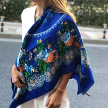 Large Cotton Scarf, Spring Summer Autumn Scarf, Best Gift for Her, Navy ... - $24.90