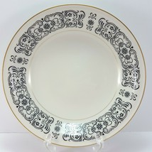 "Mikasa Riviera 205 Coupe Soup Cereal Bowl Ivory Black Scrolls 7.75"" - $10.83"