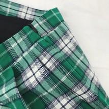 Plus Size GREEN Plaid Skirt Women Girl Long Pleated Skirt Full Green Plaid Skirt image 5